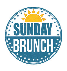 Sunday brunch grunge rubber stamp vector