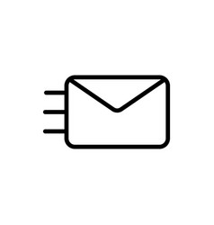 thin line envelope icon vector image