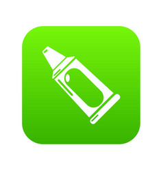 toothpaste tube icon green vector image