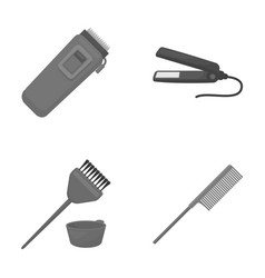 Trim hair coloring comb straightener vector