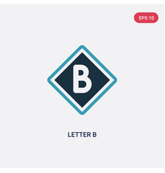 two color letter b icon from signaling concept vector image