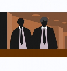 two men vector image