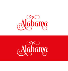 typography of the usa alabama states handwritten vector image