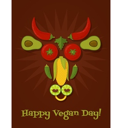 Vegan day vector