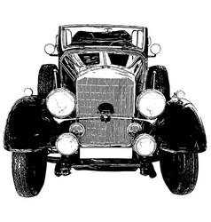 Vintage 1930s style automobile vector