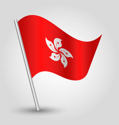 waving simple triangle hongkonger flag vector image
