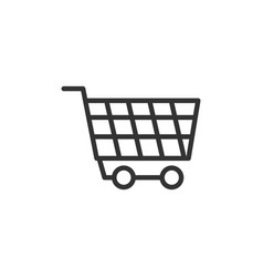 Wheel trolly icon with line style vector
