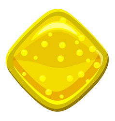 yellow candie icon cartoon style vector image