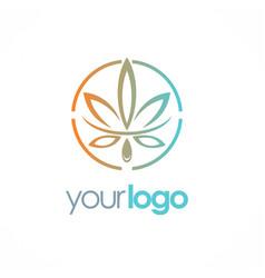 Cannabis leaf logo vector