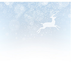 Christmas deer on snowfall background Isolated vector image vector image