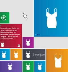 Dress icon sign buttons modern interface website vector