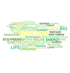 Ecology and sustainable development vector image vector image