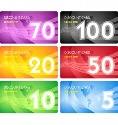 set of discount card templates vector image vector image