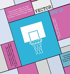 Basketball backboard icon sign Modern flat style vector image vector image