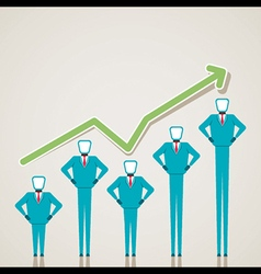 Business graph design with businessmen vector
