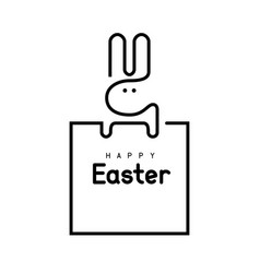 easter bunny single line vector image