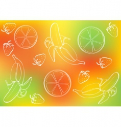 fruits background vector image vector image