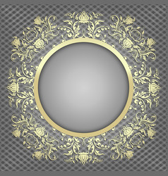 luxury background for design with gold pattern vector image