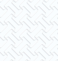 Quilling paper double T shapes grid vector image