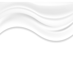 White pearl wavy silk abstract background vector image vector image