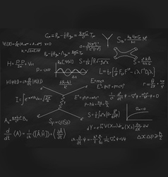 Chalk board with formulas vector image