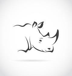 image of rhino head vector image