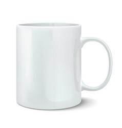 Realistic white mug vector image vector image