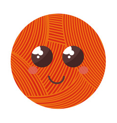 ball of wool comic character vector image