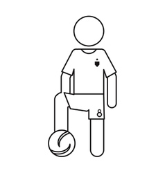 character soccer player football uniform ouline vector image vector image