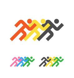 sport logo template running sportsmen logotype vector image