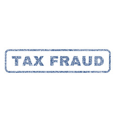 Tax fraud textile stamp vector