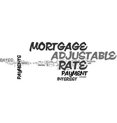Adjustable rate mortgage payment text word cloud vector