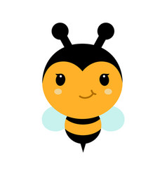 Adorable cartoon bee character in modern flat vector