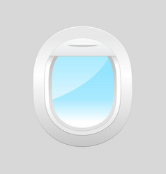 airplane window inside view vector image