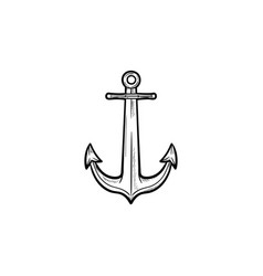 anchor hand drawn outline doodle icon vector image