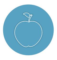 Apple fresh fruit icon vector