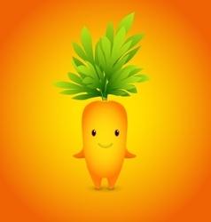 Baby Orange Carrot Cartoon Character vector image