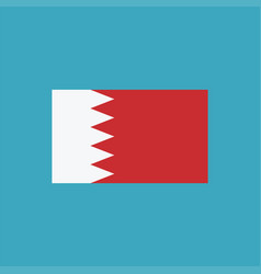 bahrain flag icon in flat design vector image