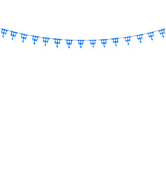 bavarian bunting festoon from germany with diamond vector image