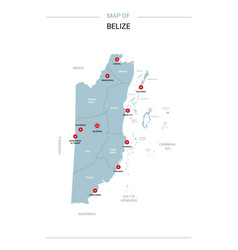 belize map with red pin vector image