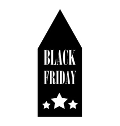 Black Friday sale tag icon simple style vector image