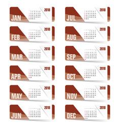calendar brown for 2018 vector image