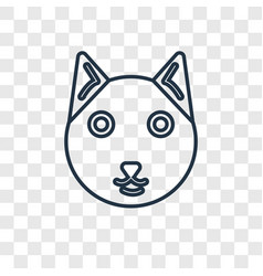 cat concept linear icon isolated on transparent vector image