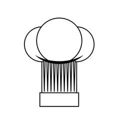 chef hat toque vector image