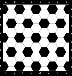 Chess Board with soccer ball texture vector