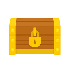 Chest dower icon flat style vector