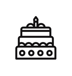 christmas cake icon vector image