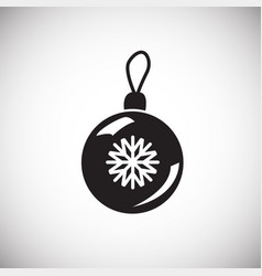 christmas tree ball on white background vector image