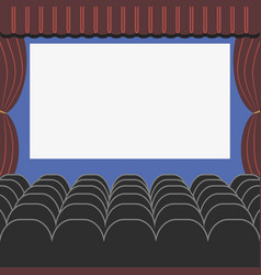 Cinema auditorium in flat style vector