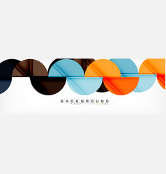 circle abstract background geometric vector image